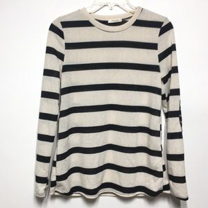 12 Pm By Mon Ami Sweaters - 12PM by Mon Ami Striped Knit Crew Neck Sweater S